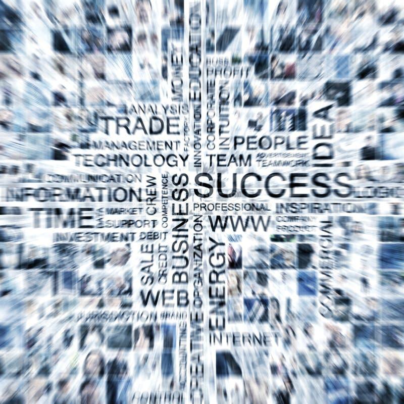 Eine große Collage der verschiedenen Geschäftsthemabilder lizenzfreies stockbild