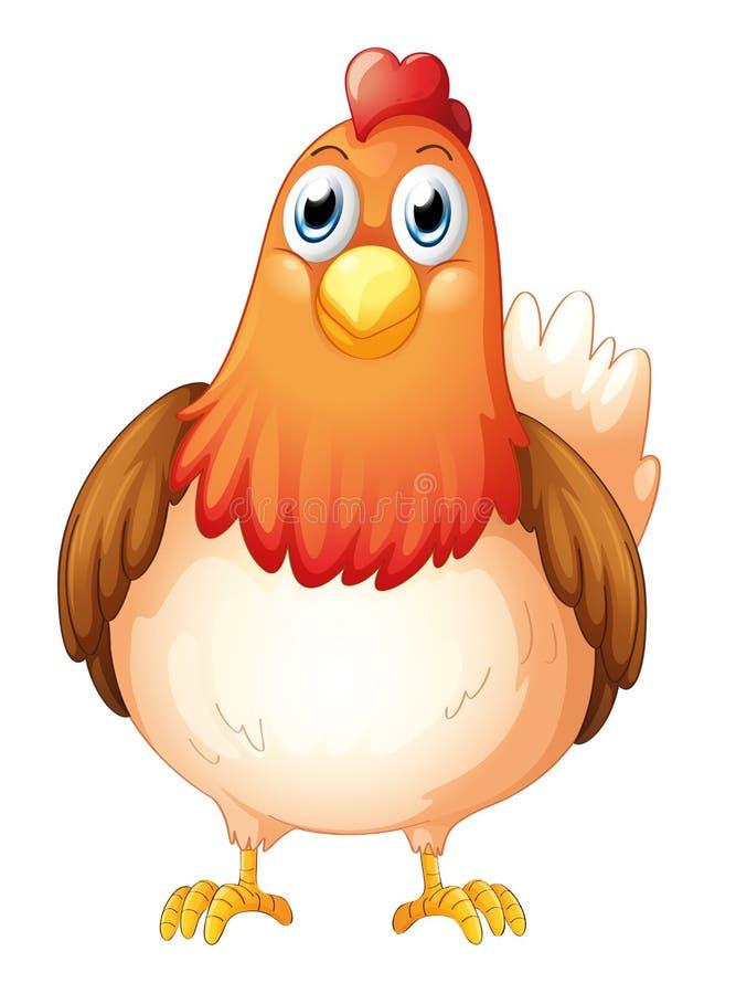 Eine große fette Henne stock abbildung