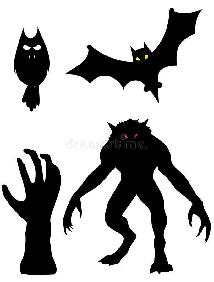 Eine Gruppe der Monster stock abbildung
