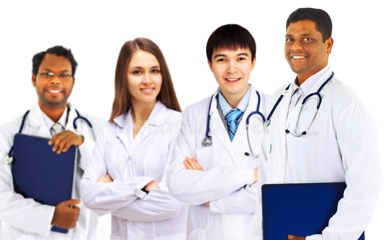 Eine Gruppe gute Doktoren stockbild