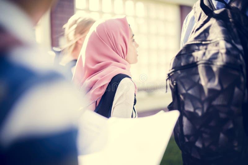 Eine Gruppe moslemische Studenten lizenzfreies stockbild