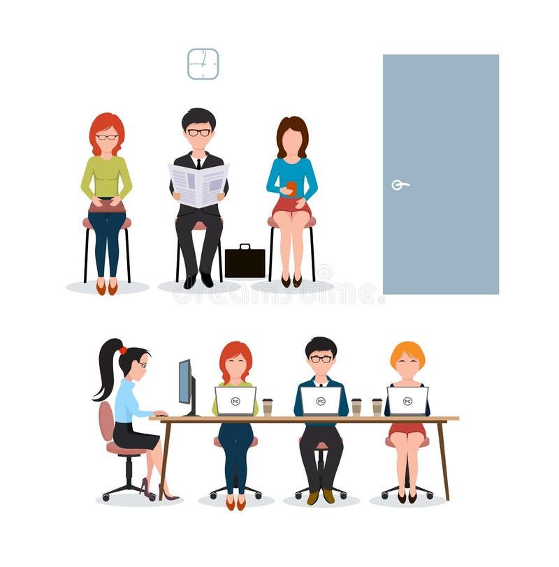 Eine Gruppe von Personen im Büro stock abbildung