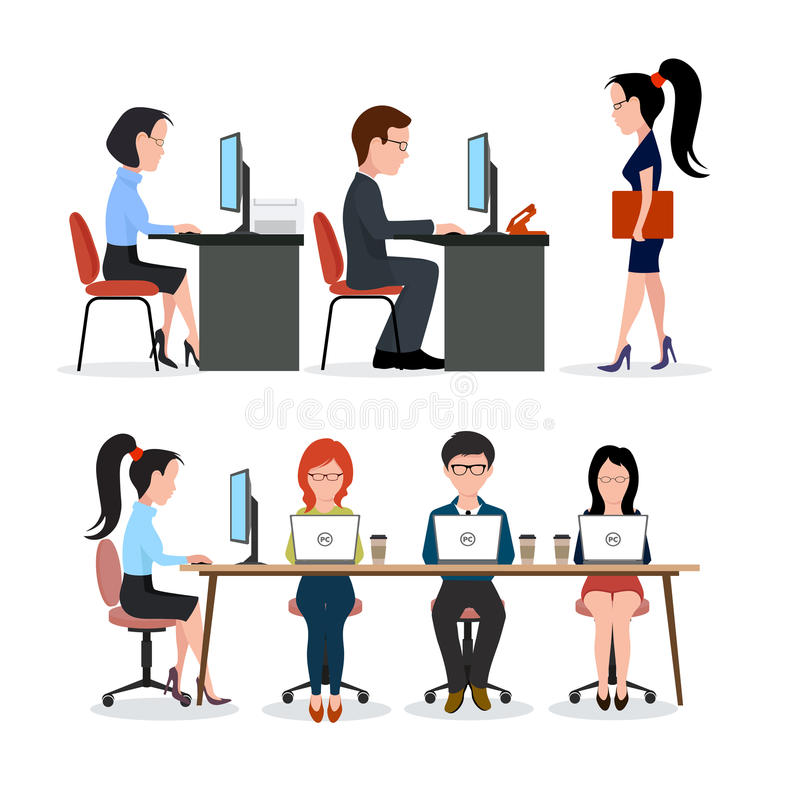 Eine Gruppe von Personen im Büro vektor abbildung
