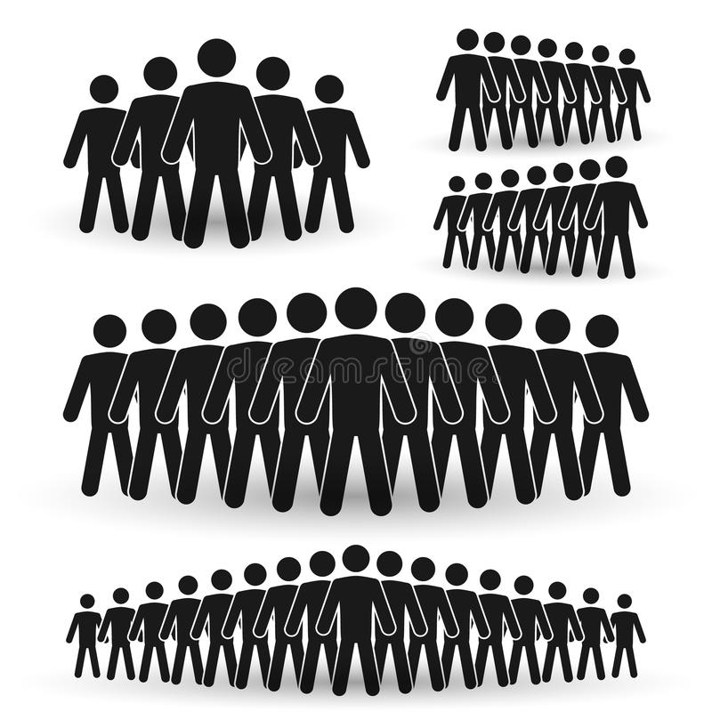 Eine Gruppe von Personenen-Ikone vektor abbildung