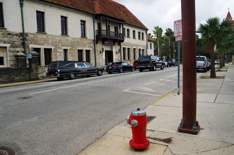 Eine Hauptstraße in der Mitte von St Augustine 23,2017 im Oktober Florida-Staat USA lizenzfreie stockfotografie
