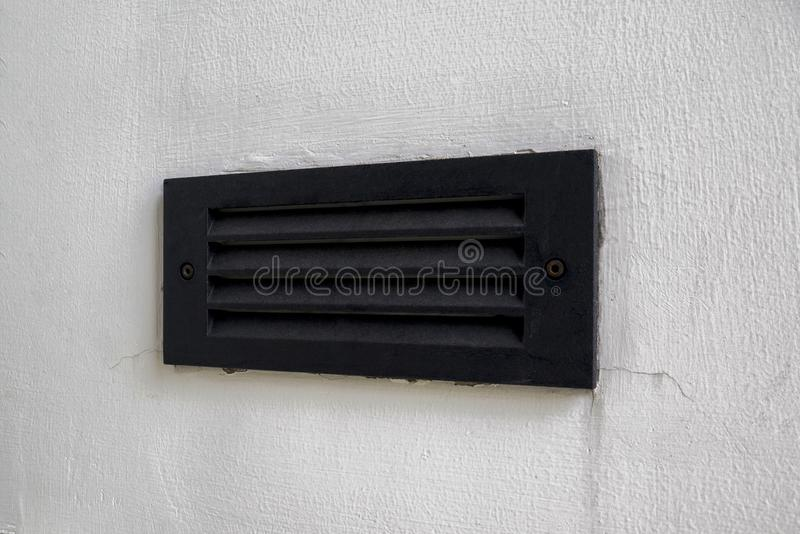 Eine Heizung/abkühlendes ein Entlüftungsregister auf der Wand lizenzfreie stockfotos