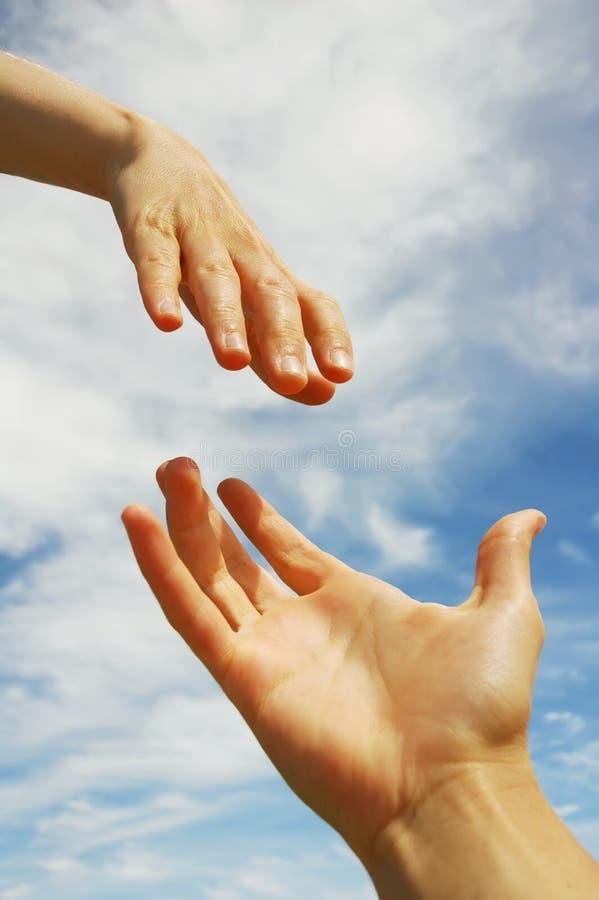 Eine helfende Hand lizenzfreies stockfoto