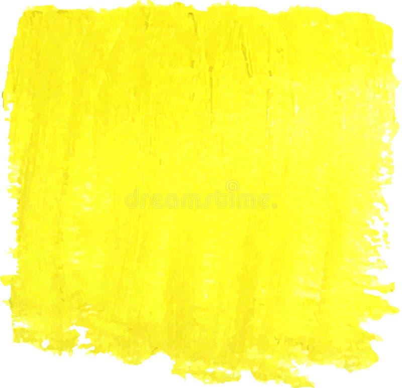 Eine helle gelbe Ölfarbe-Vektorstelle auf einem weißen Hintergrund stock abbildung