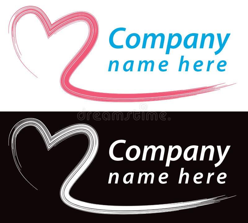 Herz-Logo lizenzfreie abbildung
