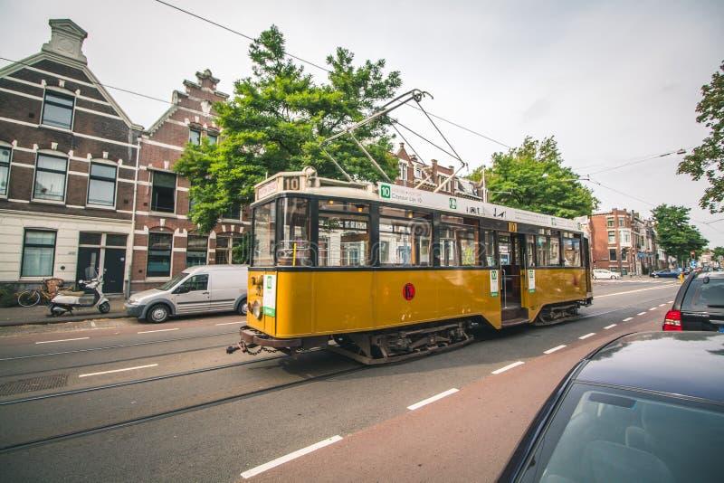 Eine historische Laufkatze in Rotterdam, die Niederlande lizenzfreies stockbild