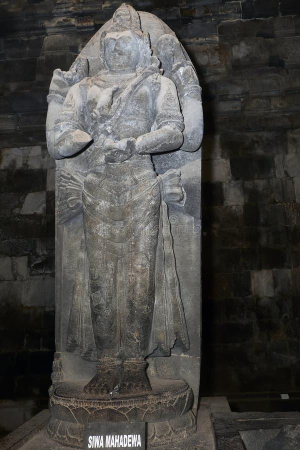 eine hohe Statue des Dreimeters von Shiva Mahadeva der Oberste Gott stockfotografie
