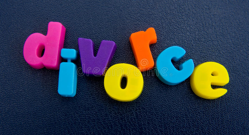 Eine holperige Scheidung. lizenzfreie stockbilder