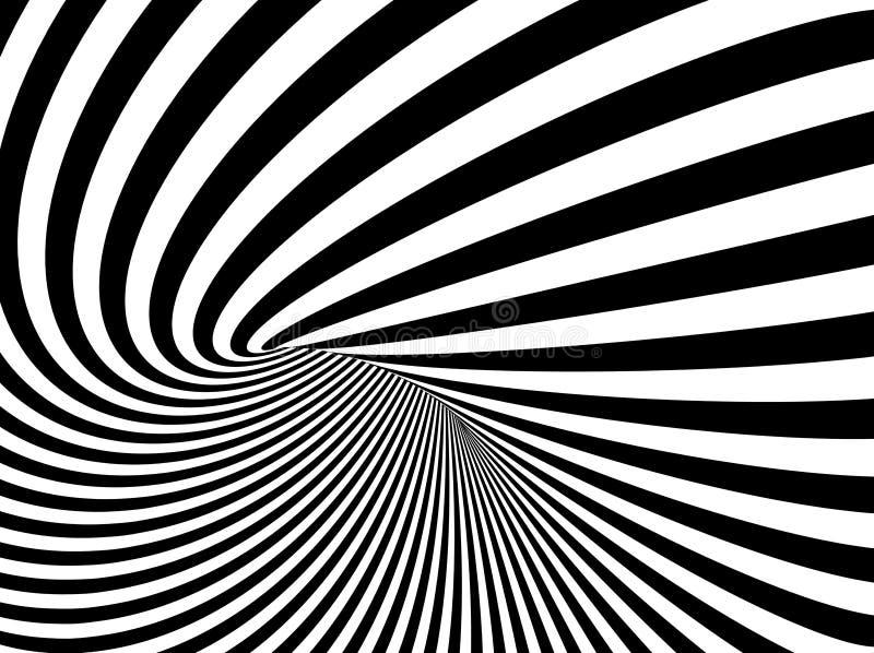 Eine Illustration des Vektor-Hintergrundes der optischen Täuschung vektor abbildung