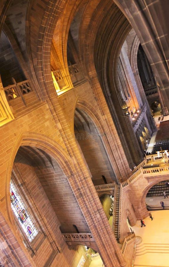 Eine Innenansicht von Liverpool-Kathedrale, England lizenzfreie stockfotos
