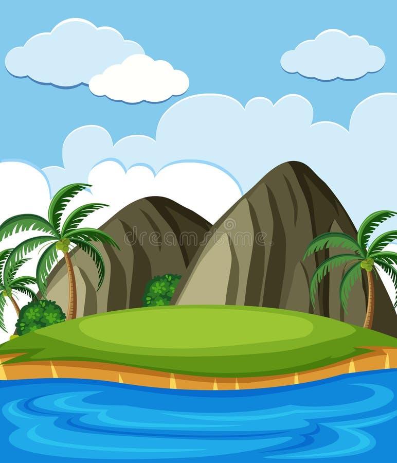 Eine Insel voll von natürlichen Ressourcen lizenzfreie abbildung