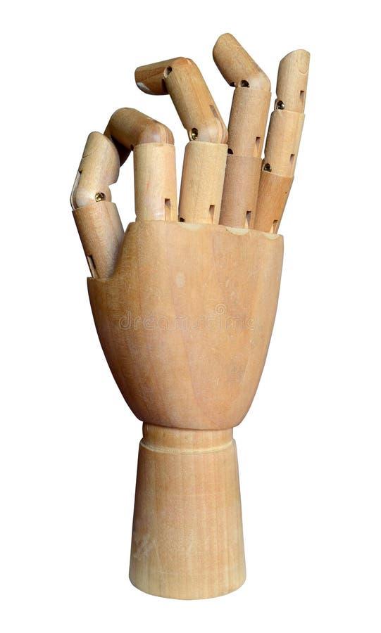 Verbundene hölzerne Hand stockbilder