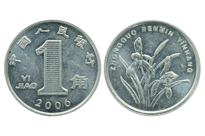 Eine Jiao-Münze stockbild