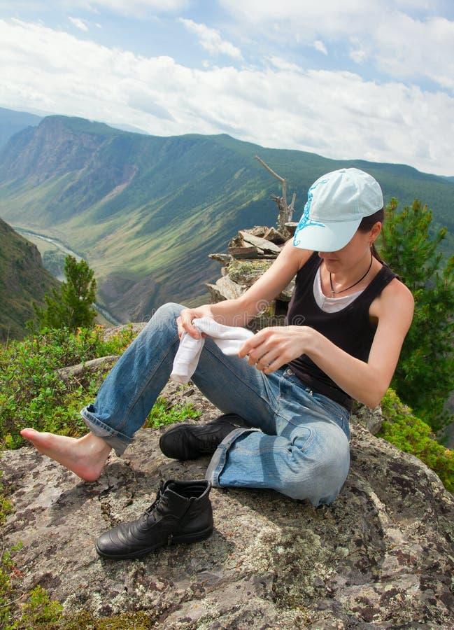Eine junge Frau lizenzfreie stockbilder