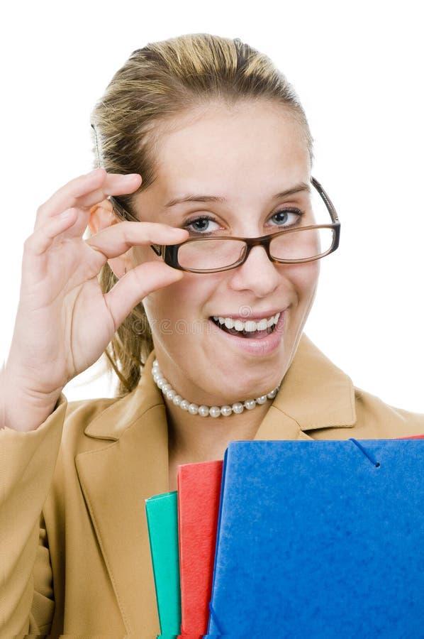 Eine junge Geschäftsfrau stockfotos