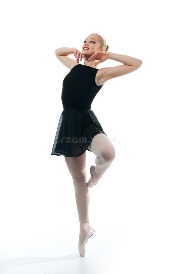 Eine junge wundervolle Ballerina lizenzfreies stockbild