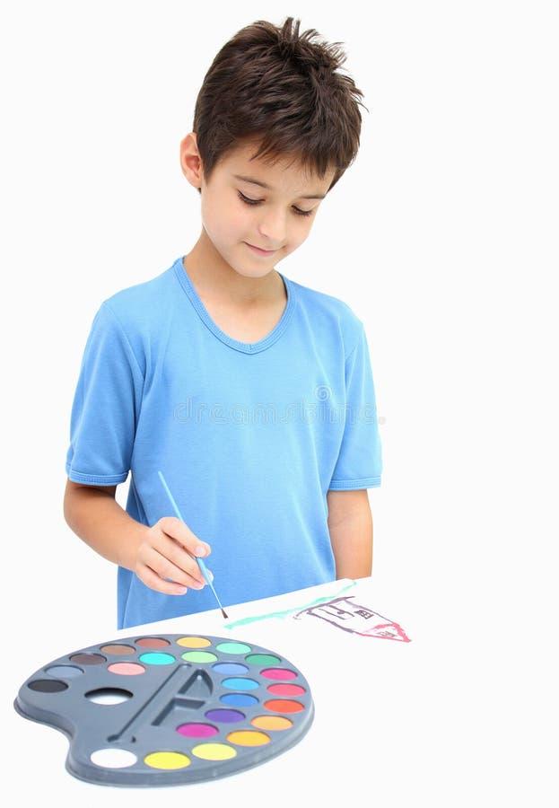Eine Jungenzeichnung lizenzfreies stockbild