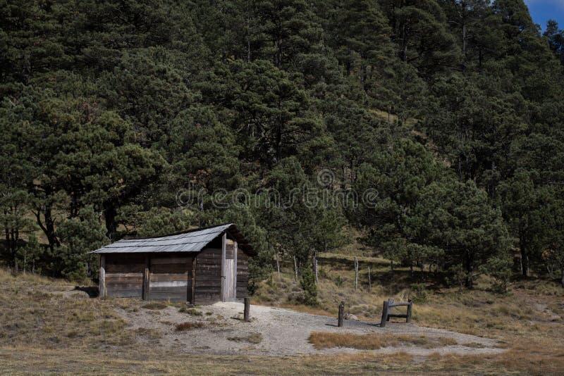 Eine Kabine basiert in Popocatepetl im Zustand von Mexiko lizenzfreie stockfotos