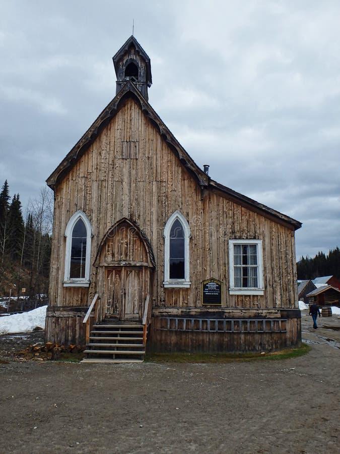 eine Kapelle gemacht vom Holz stockbild