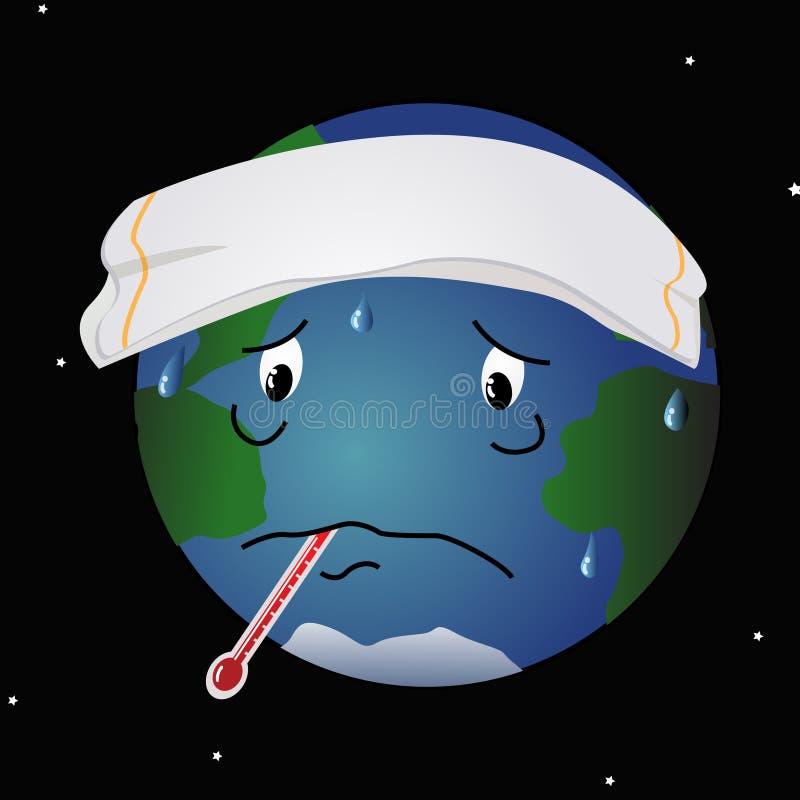 Kranke Planeten-Erde lizenzfreie abbildung