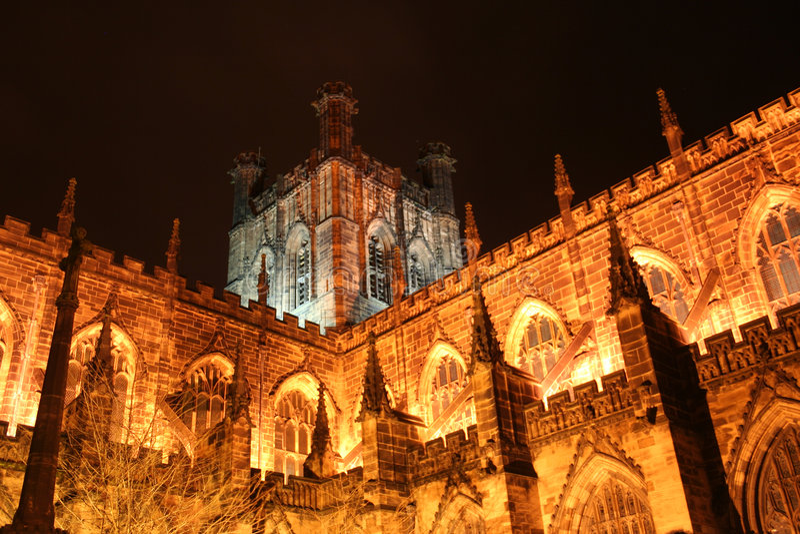 Eine Kathedrale in Chester lizenzfreies stockfoto