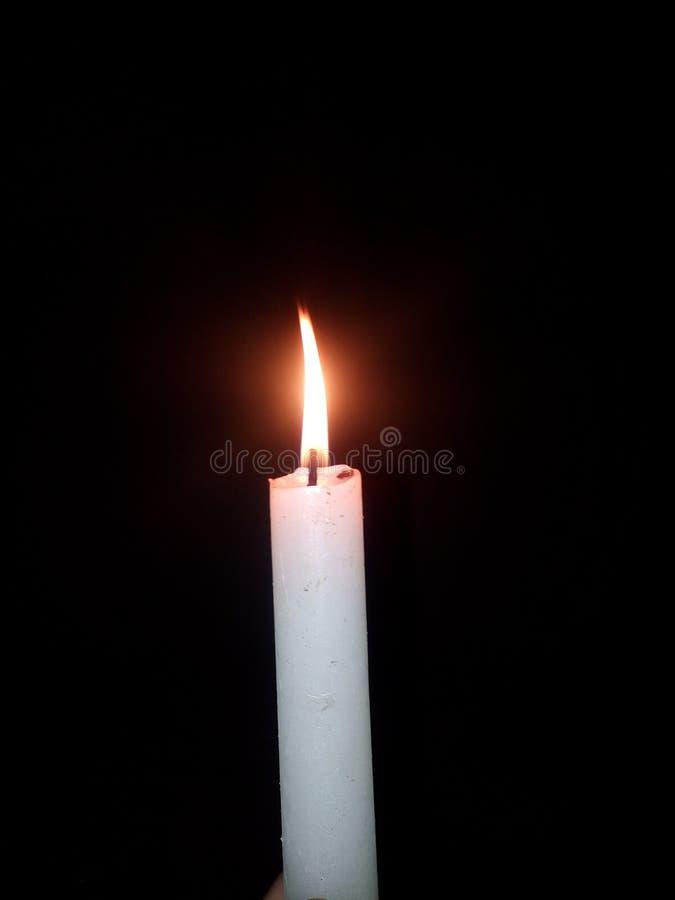 Eine Kerze stockbild
