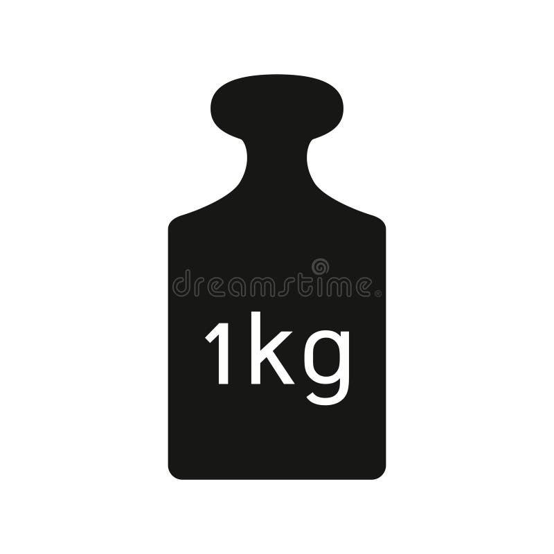 Eine Kilogrammgewichtsikone stock abbildung