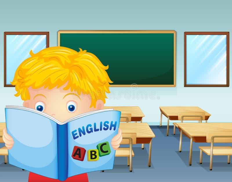Eine Kinderlesung innerhalb des Klassenzimmers stock abbildung