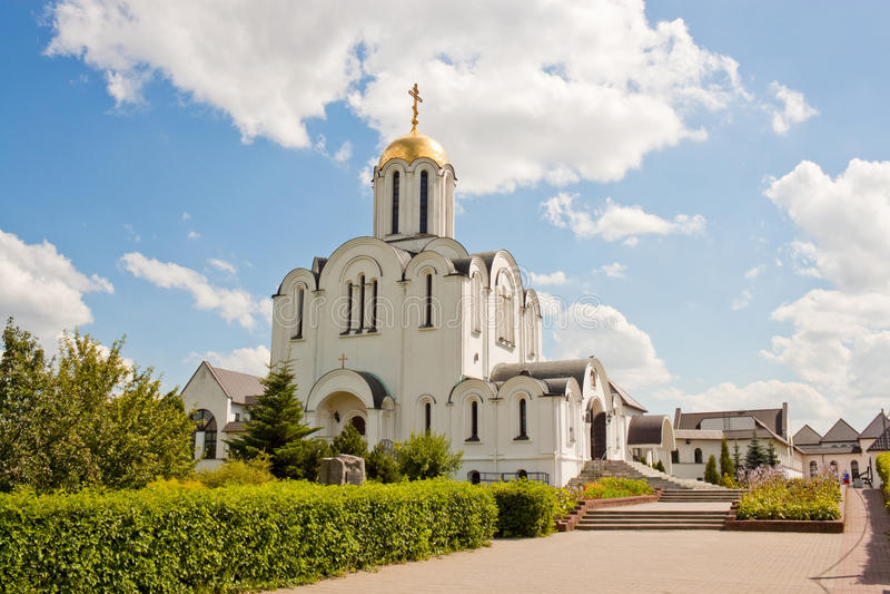 Eine Kirche Mutter der Gott-Freude an allen die Sorge in Minsk, Weißrussland lizenzfreies stockbild