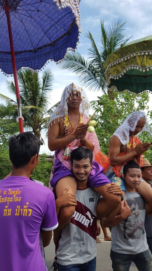 Eine Klassifikationszeremonie in Thailand stockbild