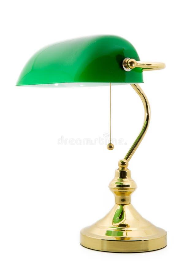 Eine klassische Bankerlampe lizenzfreies stockfoto