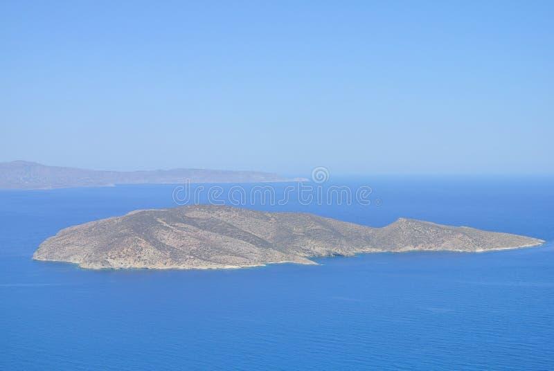Eine kleine Insel im Ägäischen Meer lizenzfreie stockbilder