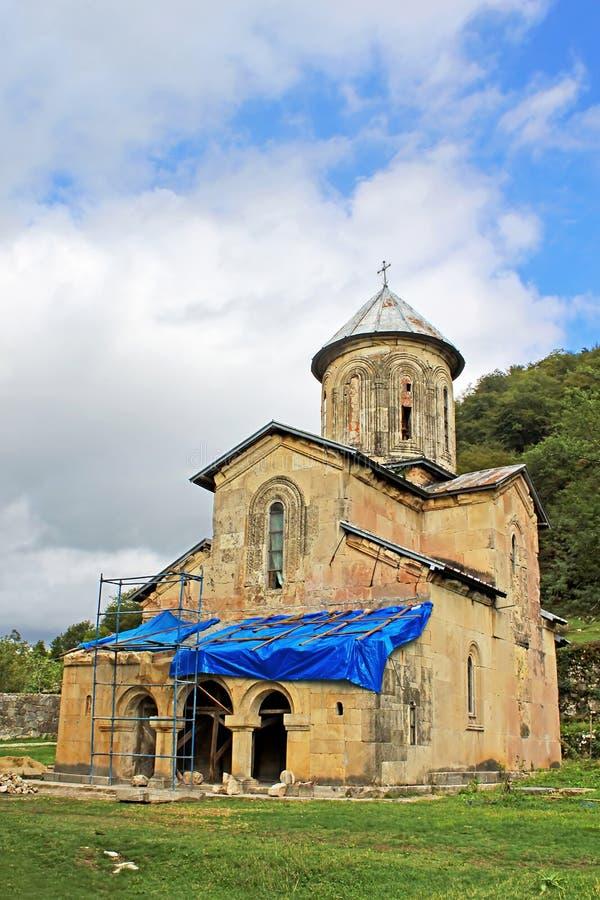 Eine kleine Kirche altes orthodoxes Kloster Gelati, Georgia stockfotos