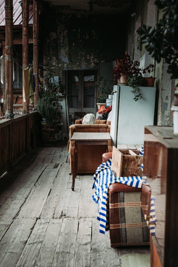 Eine kleine Wohnung stockbild