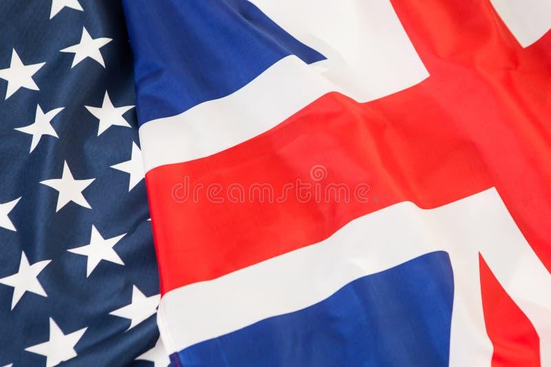 Eine Koalition von zwei NATO-Ländern Die US und das Großbritannien stockfoto