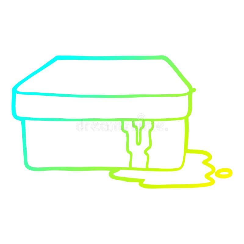 Eine kreative Kalt-Gradient-Linie Zeichnen Karikatur mit Schleim vektor abbildung