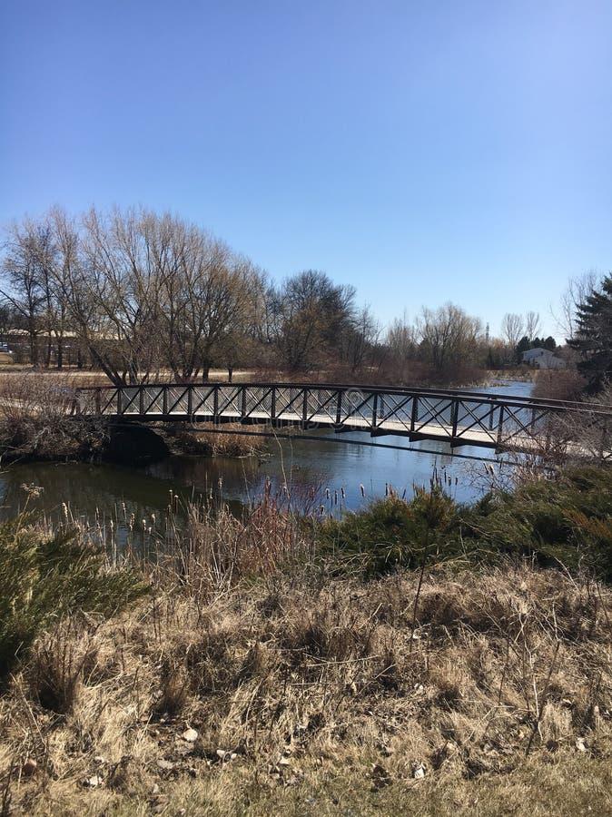 Eine kurze Brücke lizenzfreie stockfotos