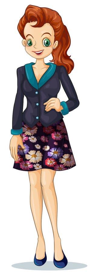 Eine lächelnde Geschäftsfrau lizenzfreie abbildung