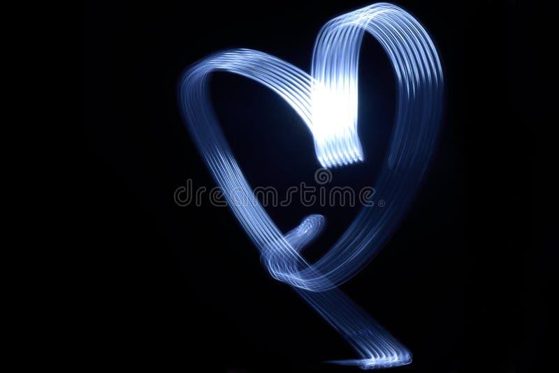 Eine lange Belichtung eines Herzanschlags stockfotos