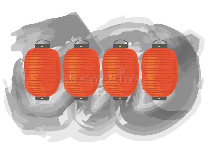 Eine Laterne stock abbildung