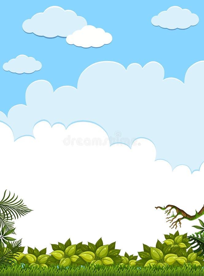 Eine leere grüne Dschungel-Schablone lizenzfreie abbildung