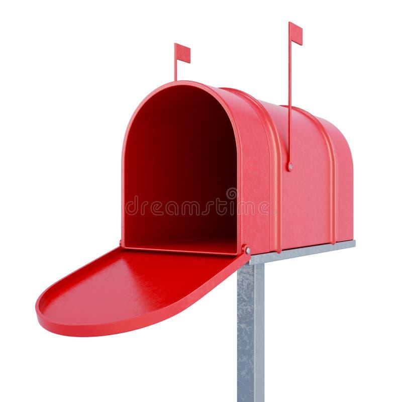 Eine leere Mailbox Wiedergabe 3d lizenzfreie abbildung