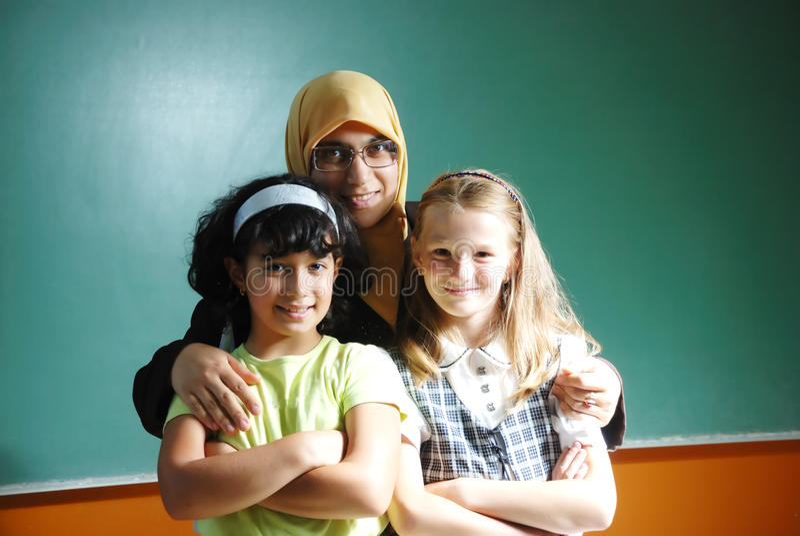 Eine Lehrermoslemfrau stockfoto