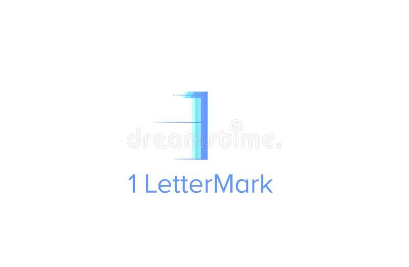 Eine Lettermarklogo-Schablone stock abbildung