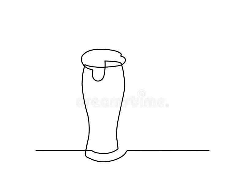 Eine Linie Glas lizenzfreie abbildung