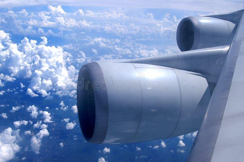 Eine Luftaufnahme von einem Flugzeug lizenzfreies stockbild